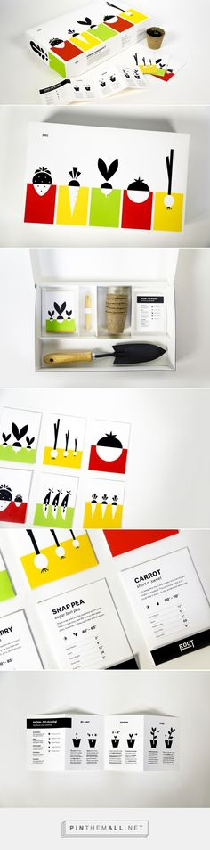 Root / The concept for Root, by Kimberly Meistrell, provides you with everything needed to grow plants indoors. Referência de cores/ jogo com ícones dentro de formas.