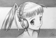 Manga Girl with Headphones by MCorderroure on DeviantArt Cartoon Drawing Tutorial, Cartoon Girl Drawing, Manga Drawing, Cartoon Drawings, Manga Girl, Anime Manga, Anime Art, Anime Music, Cute Headphones