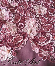 Love the colors! Irish Crochet Patterns, Crochet Motifs, Freeform Crochet, Lace Patterns, Crochet Stitches, Russian Crochet, Japanese Crochet, Crochet Leaves, Crochet Flowers