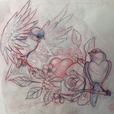 If you like watercolor tattoos, please give me a favor or leave a message in the comment area. More tattoos will be introduced in the future. Birds Tattoo, Animal Art, Animal Tattoos, Sketches, Art Drawings, Art Tattoo, Drawings, Beautiful Tattoos, Bird Art