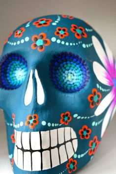 Day of the Dead skull from #Mexico Import Arts