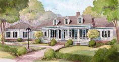 House Plan 2049 is a Classic | Southern Living One Level House Plans, House Plans One Story, One Story Homes, Best House Plans, Dream House Plans, House Floor Plans, Cottage House Plans, Cottage Homes, Cottage Living