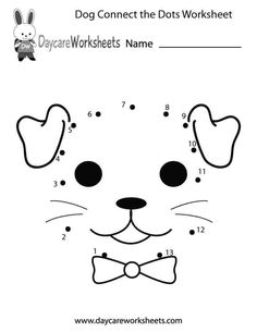Easily print our dog connect the dots worksheet directly in your browser. It is a free preschool Connect the Dots worksheet. Numbers Kindergarten, Numbers Preschool, Free Preschool, Kindergarten Worksheets, Preschool Activities, Animal Worksheets, Printable Preschool Worksheets, Free Printable, Printable Coloring