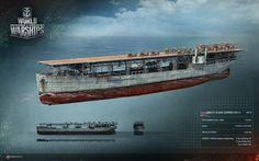 World of Warships, USS Langley - Flugzeugträger