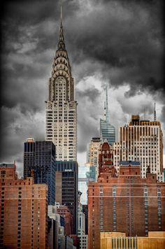 aquarelle gratte ciel de new york empire state building chrysler building dans le dessin de. Black Bedroom Furniture Sets. Home Design Ideas