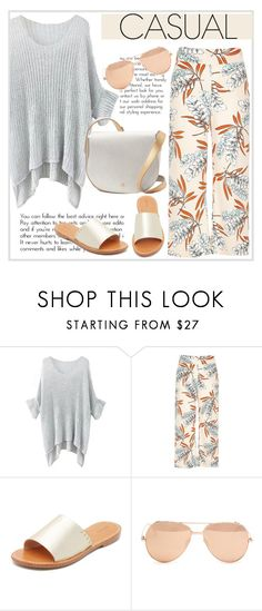 """""""Casual"""" by cilita-d ❤ liked on Polyvore featuring River Island, Soludos, Linda Farrow and Deux Lux"""