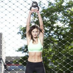 "Swing: Take the time to get this basic traditional kettlebell move right; you'll be glad you did. ""It recruits all those muscles that have to do with posture: your stabilizer muscles, the glutes, the hamstrings, the whole entire backside of the body,"" Laura says. ""More importantly, because it's such a dynamic movement, you're going to get the heart rate up, so you're going to get cardio work out of it. It's a phenomenal move for all-over fitness, cardio, strength training, and toning.""…"