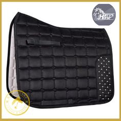 Harrys Horse Black Crystal Saddle Pad Vz - Kola-Beanz is limited edition and new in May 2018 and forms part of the exclusive Kola-Beanz distinguished collection. This is a fabulous saddle pad, in stock and available for immediate dispatch.