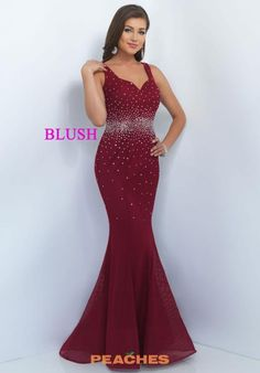 Simple Blush Prom 11035 Chic Jeweled Mermaid Evening Gown For Sa f9f055309b7d