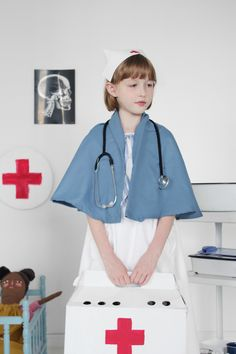 Mer Mag: Play Hospital & Child's Nurse Costume