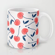 """Cherry"" Mug by Babiole Design on Society6."