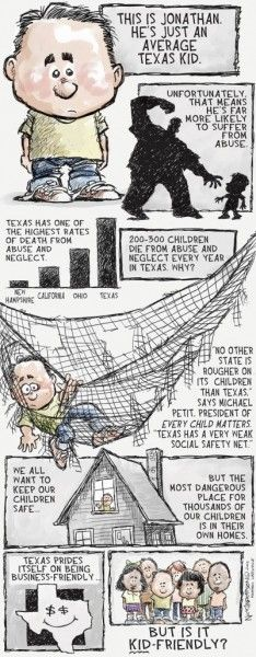 Cartoon done by the Houston Chronicle about child abuse and the work my organization is doing nationwide. Every Child Matters! Social Awareness, Create Awareness, Emotional Abuse, Every Child Matters, The Awful Truth, Children And Family, Social Work, Kids House
