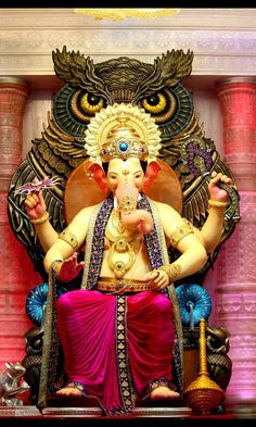Lord ganesh wallpaper by - - Free on ZEDGE™ Jai Ganesh, Ganesh Lord, Ganesh Idol, Ganesha Art, Shree Ganesh, Lord Shiva, Lord Vishnu, Ganpati Bappa Photo, Ganpati Picture
