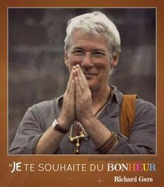 Richard Gere in tour buddista Richard Gere, Where Is My Mind, Miracle Morning, Something To Remember, Magic Words, Borobudur, Hollywood Actor, Good Thoughts, Positive Attitude