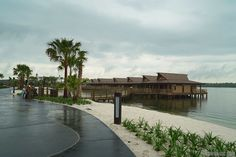 Disney's Polynesian Villas and Bungalows - Disney's Polynesian Village Resort Bora Bora Bungalow - Walkway from TTC side