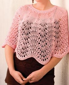 Image detail for -Free Knitting Pattern - Lacy Waves Poncho from the Lace ponchos and . Capelet Knitting Pattern, Crochet Poncho Patterns, Shawl Patterns, Knitted Poncho, Crochet Shawl, Knitting Patterns Free, Crochet Vests, Crochet Cape, Crochet Edgings