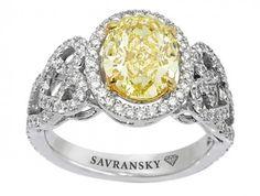 Madame Covet's Style Boutique: Savransky Kahului Yellow Diamond Ring
