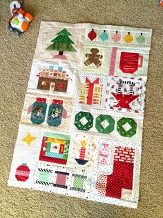 Can you believe that we are already in the middle of the holiday season? I've been sewing up a few things for Christmas, and started this cute Christmas sampler quilt along that was going Diy Craft Projects, Christmas Sewing Projects, Christmas Quilt Patterns, Christmas Fabric, Christmas Quilting, Christmas Blocks, Christmas In July, Vintage Christmas, Christmas Crafts