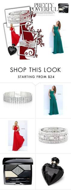 """""""Bez naslova #15"""" by mullermuller ❤ liked on Polyvore featuring Red Herring, Sherri Hill, Sole Society, Christian Dior, Lipsy and homecomingqueendress"""