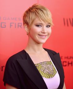 Amp up the edginess in your look like Jennifer Lawrence by using a little hair wax to add spiky texture.  - GoodHousekeeping.com