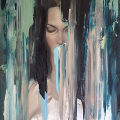 Among abstract, disarrayed brushstrokes; faces emerge. Meredith Marsone depicts pure and flawless bodies and faces. The characters, calm and haggard; holding onto impalpable silhouettes are merely looking at us. The expressions on their faces translate deep and intense feelings.