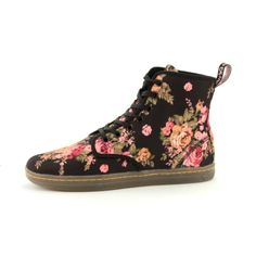 Womens Dr. Martens Eclectic Boot - Black/Floral
