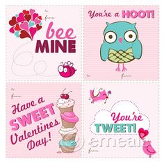 FREE printable Valentines Cards= SO cute!