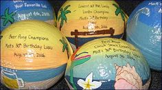 images of luau party | Personalized painted coconut for luau party gifts and invitations