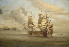 The Royal Collection: The End of the Action between the English Indiaman and Three Spanish Privateers
