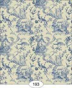 "Dollhouse Wallpaper "" Chinese Indigo Blue Toile "" | eBay"
