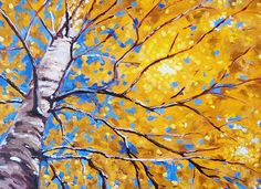 Sky Birch Painting by Nancy Merkle; Original and Fine Art Reproductions
