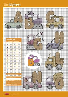 On the Move alphabet - 2 of 4 Small Cross Stitch, Cross Stitch Flowers, Cross Stitch Designs, Cross Stitch Patterns, Cross Stitching, Cross Stitch Embroidery, Stitch Toy, Animal Letters, Cross Stitch Alphabet