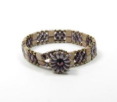 SUPERDUO CHECKMATE TILE Bracelet-Metallic by CinfulBeadCreations