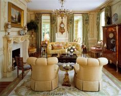 Estate muted yellow sitting room