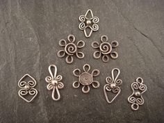 filigree dangles | Small sterling silver filigree components… | Flickr