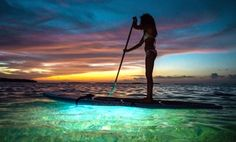 "Groupon - ""Neon"" Paddleboard Glow Sunset Tour for Two or Four from Miami Beach Paddleboard (Up to 62% Off) in Miami Beach. Groupon deal price: $39"