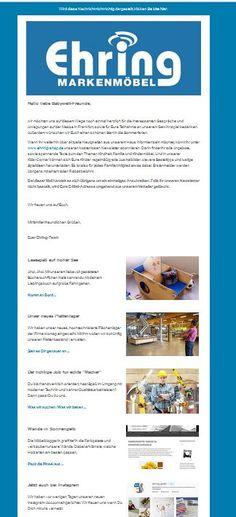 Wisst Ihr schon das Neuste? Nein? Dann aboniert unseren Newsletter unter www.ehring-shop.de und seid immer aktuell informiert.   Mit Eurer Anmeldung sichert Ihr Euch übrigens 5% Erstbesteller-Rabatt.
