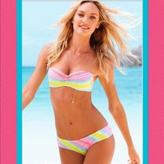 VS Rainbow Bikini Bottoms NWT!  These GORGEOUS and COMFY rainbow bikini bottoms are a MUST HAVE!  Can't go wrong when wearing rainbows!  Check out our closet for cute swim accessories and tops to go with these bottoms! Victoria's Secret Swim Bikinis
