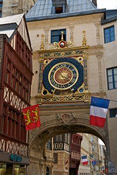 Rue de Gros-Horloge in Rouen, Normandy, France by Australians Studying Abroad, via Flickr