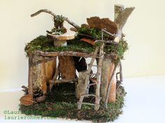Laurie Rohner Woodland Garden Fairy Houses 4