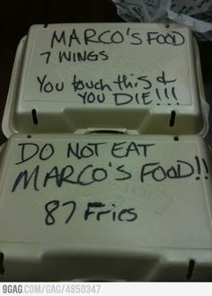 Marco got mad, and apparently instead of eating his food he decided to count how much of it he had, it's only logical.