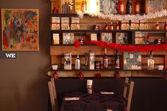 Interior do restaurante italiano La Piola, em Braga