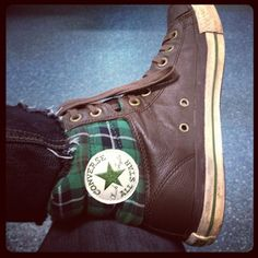 my leather converse tweed padded collar  =D