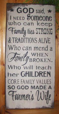 God Made A Farmer Wife Wood Sign, Canvas Wall Art, Photo Clip Frame - Mother's Day, Christmas, Birthday