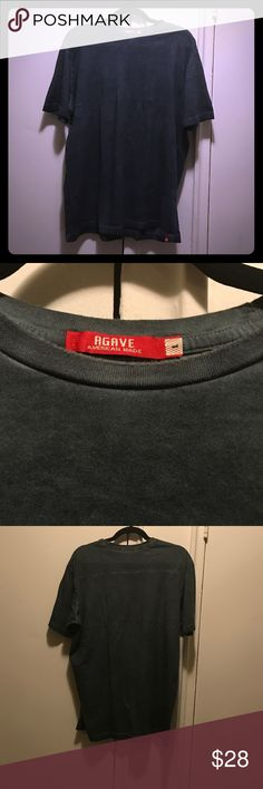 NWOT Agave Jeans Men's Washed out Hunter Green Tee Brand new without tags super cool washed color hunter green coloring Agave Jeans Shirts Tees - Short Sleeve