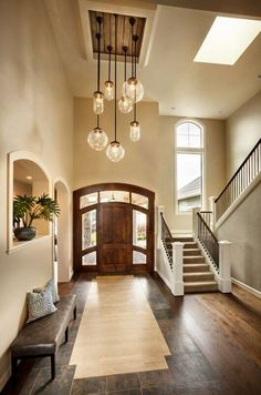 Creative Foyer Chandelier Ideas for Your Living Room  23 pics Interiordesignshome.com A floral golden foyer chandelier