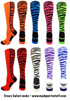 MadSportsStuff Exotic Leopard Over The Calf Athletic Socks