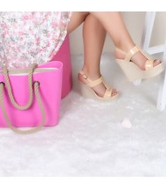 Love Monia Somon Dolgu Topuklu Ayakkabı