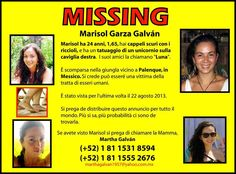 This young lady is currently missing and we are looking for any information on her whereabouts, people who know the area of Chiapas, Mexico, and may know of a way to get new leads on her, we would like to talk to you.