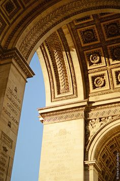 Underneath Arc de Triomphe, Paris, France, By Carin Olsson....the architecture is so beautiful